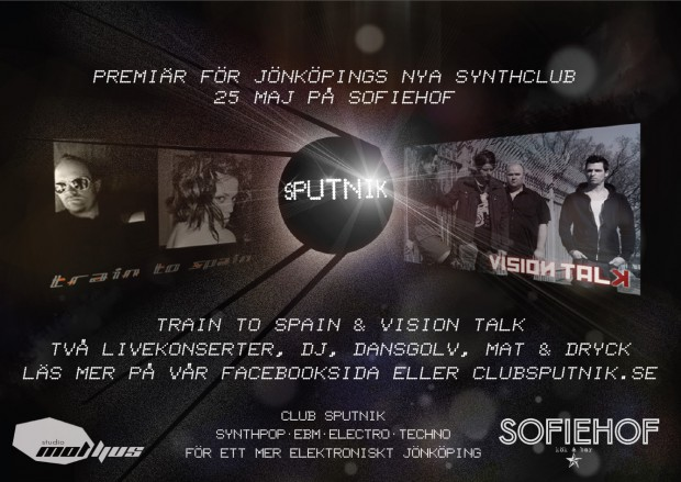 Club Sputnik. Alternativ musikklubb för elektronisk musik. Producent: Studio Motljus